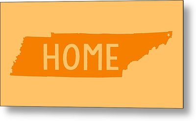 Metal Print featuring the digital art Tennessee Home Orange by Heather Applegate