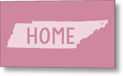 Metal Print featuring the photograph Tennessee Home White by Heather Applegate