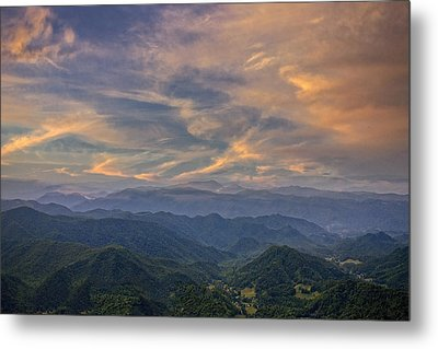 Tennessee Mountains Sunset Metal Print