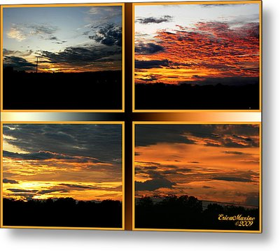 Metal Print featuring the photograph Tennessee Sunset by EricaMaxine  Price