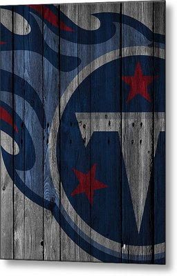 Tennessee Titans Wood Fence Metal Print