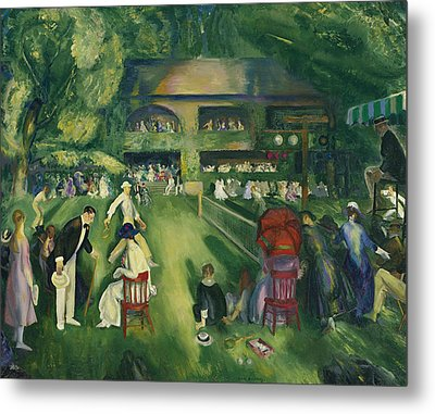 Tennis At Newport Metal Print by George Bellows