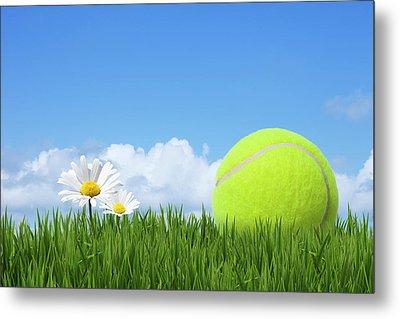 Tennis Ball Metal Print by Andrew Dernie