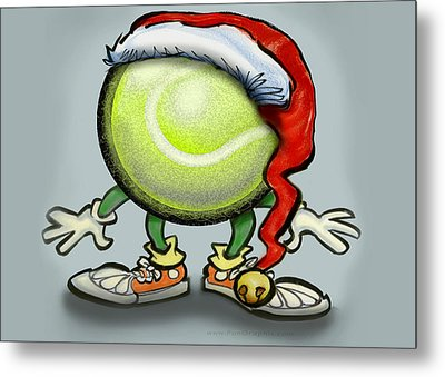 Tennis Christmas Metal Print by Kevin Middleton