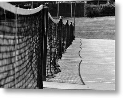 Tennis Courts Metal Print by Tracy Smith