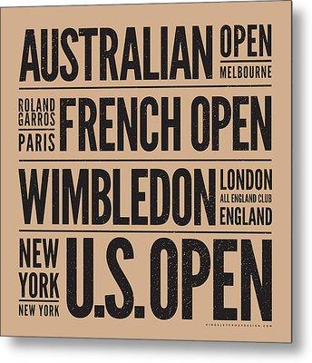 Tennis Grand Slams Metal Print