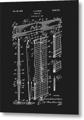 Tennis Net Patent Metal Print