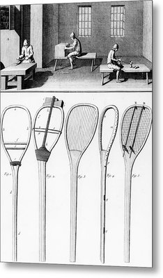 Tennis Rackets Metal Print by French School