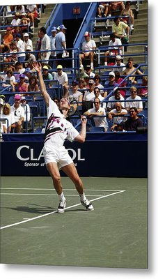 Tennis Serve Metal Print