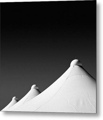 Tent Tops Metal Print by Dave Bowman