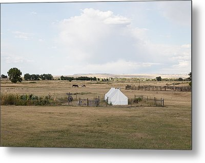 Tents At Fort Laramie National Historic Site In Goshen County Metal Print by Carol M Highsmith