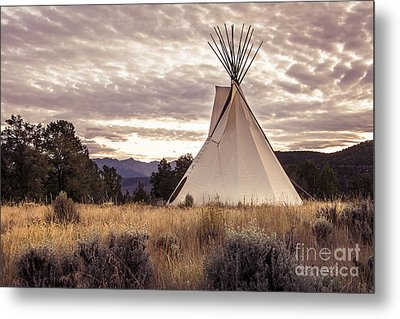 Metal Print featuring the photograph Tepee by The Forests Edge Photography - Diane Sandoval