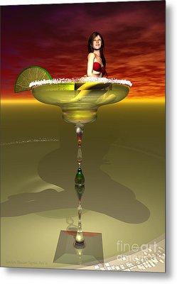Tequila Sunrise Metal Print by Sandra Bauser Digital Art