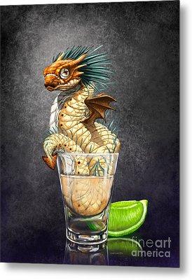 Tequila Wyrm Metal Print