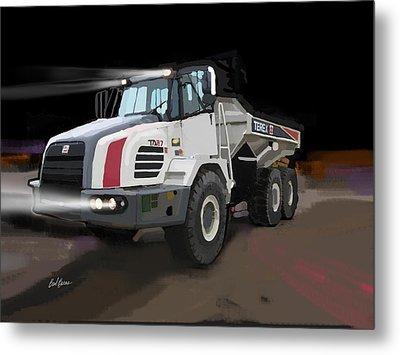 Terex Ta27 Articulated Dump Truck Metal Print