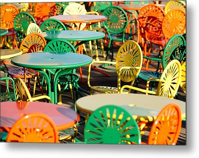 Terrace At The Memorial Union Metal Print by Todd Klassy