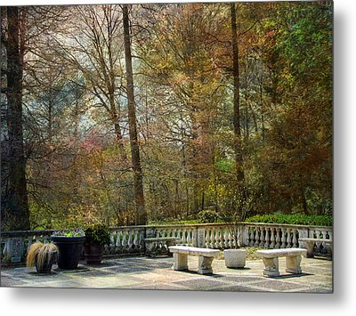 Metal Print featuring the photograph Terrace by John Rivera