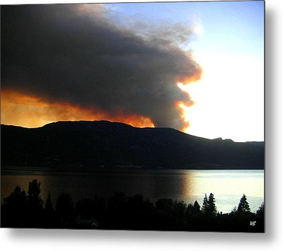 Terrace Mountain Fire Metal Print by Will Borden