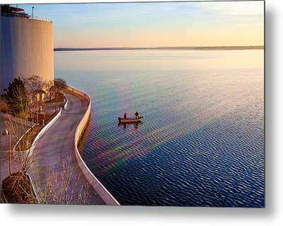 Terrace Rainbow Metal Print by Todd Klassy