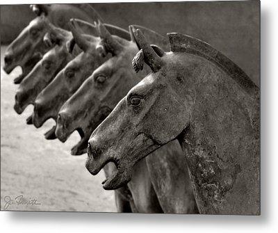 Terracotta Horses Metal Print by Joe Bonita