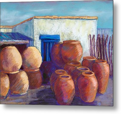 Terracotta Pots Metal Print by Candy Mayer