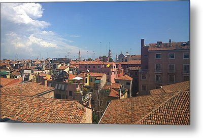 Metal Print featuring the photograph Terracotta Rooftops by Anne Kotan