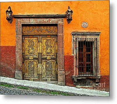 Terracotta Wall 1 Metal Print by Mexicolors Art Photography
