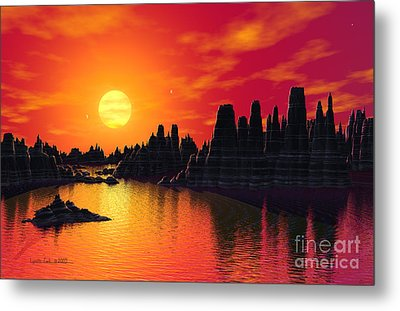 Terrestrial Planet At 55 Cancri Metal Print by Lynette Cook