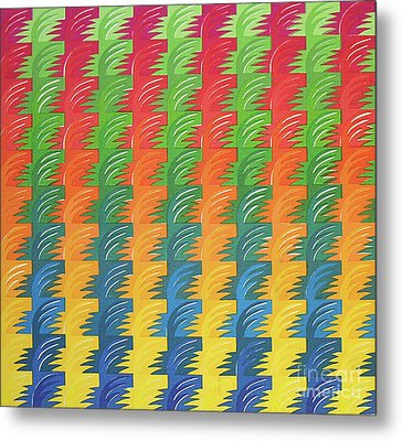 Tessellation Metal Print by Jacqueline Phillips-Weatherly