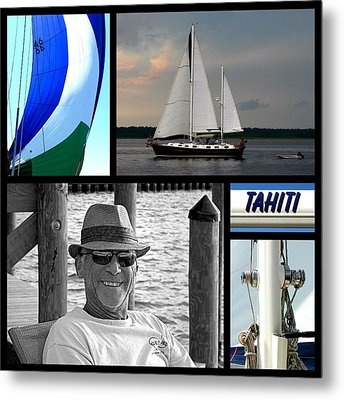 Tahiti Square Collage Metal Print