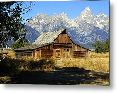 Teton Barn 4 Metal Print by Marty Koch