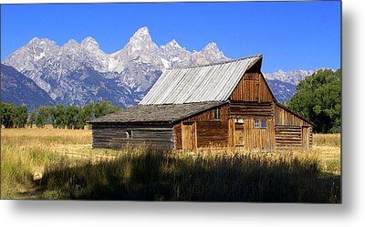 Teton Barn 5 Metal Print by Marty Koch
