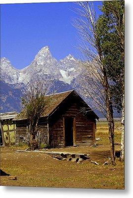 Teton Cabin Metal Print by Marty Koch