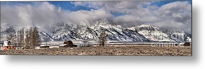 Metal Print featuring the photograph Teton Mormon Homestead Panorama by Adam Jewell