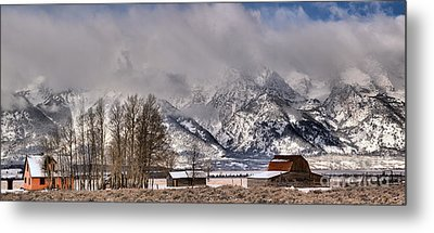Metal Print featuring the photograph Teton Mormon Row Panorama by Adam Jewell