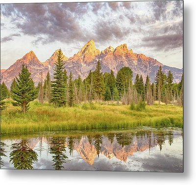 Metal Print featuring the photograph Teton Morning by Mary Hone