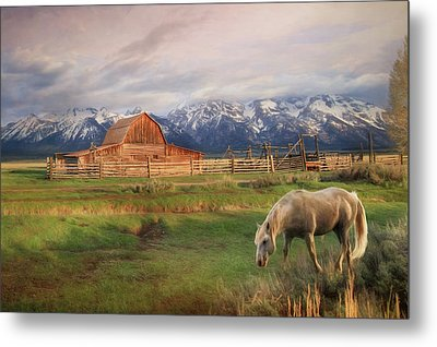 Teton Ranch Metal Print by Lori Deiter