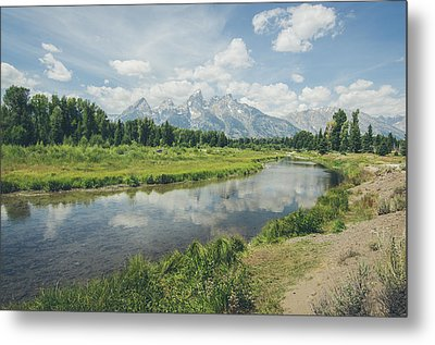 Teton Reflections Metal Print