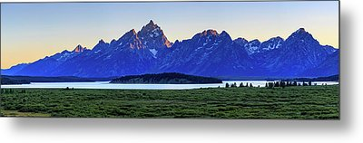 Teton Sunset Metal Print by David Chandler