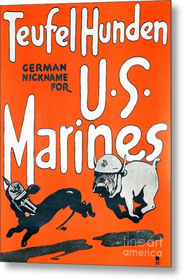 Teufel Hunden Us Marines Poster Metal Print by American School