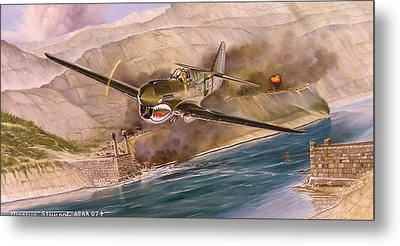 Tex Hill Over The Salween Gorge Metal Print by Marc Stewart