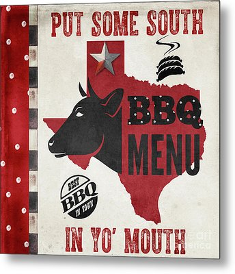 Texas Barbecue 4 Metal Print by Mindy Sommers