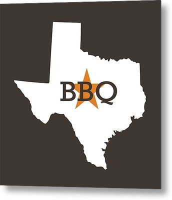 Texas Bbq Metal Print