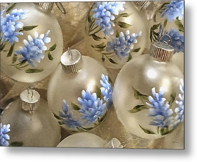 Texas Bluebonnet Ornaments Metal Print