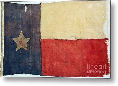 Texas Flag, 1842 Metal Print by Granger