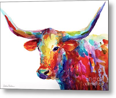 Texas Longhorn Art Metal Print