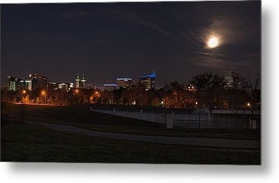 Metal Print featuring the photograph Texas Medical Center Moonset by Joshua House