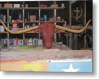 Texas Monster Longhorn Metal Print by Michael Pasko