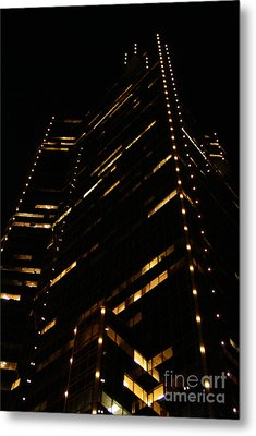 Texas Night Metal Print by Linda Shafer