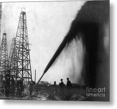 Texas: Oil Derrick, C1901 Metal Print by Granger